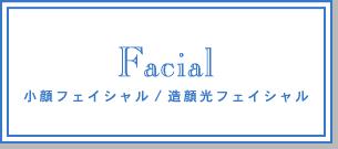 Facial 小顔フェイシャル/造顔光フェイシャル